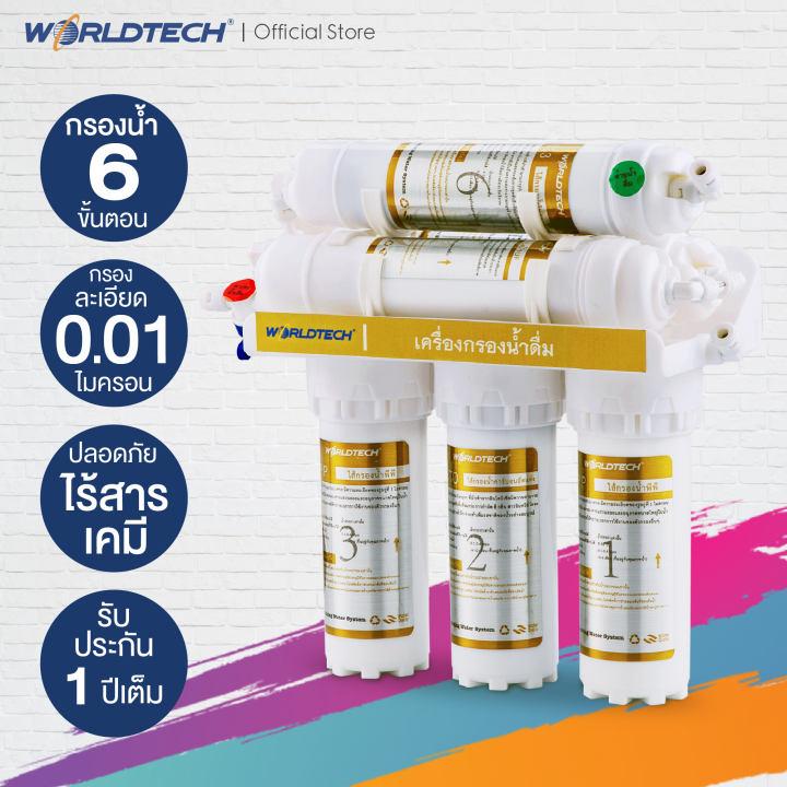 รีวิว เครื่องกรองน้ำ Worldtech รุ่น WT-WP6S-UF150 ดีไหม
